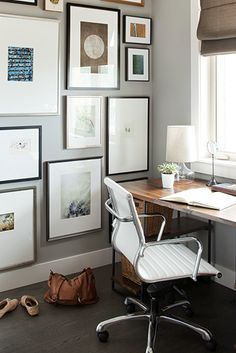 gallery wall in a home office