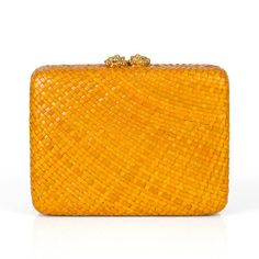 #alewalsh #clutch  Ale Walsh - Hand woven water Lily clutch bag with flower closure plated in 24ct gold and a drop-in gold chain. Buy online at www.alewalsh.com Clutch Bag, Tote Bag, Red Coral, Scarfs, Summer Collection, Gold Chains, Philippines, Ale, Hand Weaving
