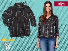 Lleva la frescura de la franela ligera en una blusa #Mossimo de escote cruzado. #TenUnLookDe10