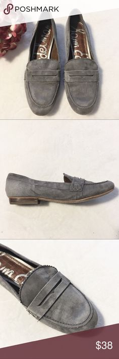 Sam Edelman Etiene Gray Suede Penny Loafers Shoes Gray Sam Edelman suede  loafers in great condition. Normal signs of light wear. Size 7.5 M. Sam  Edelman ... cdc980b8f