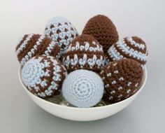 Easter Eggs amigurumi CROCHET PATTERN - 8 designs in 1 pattern | planetjune - Patterns on ArtFire