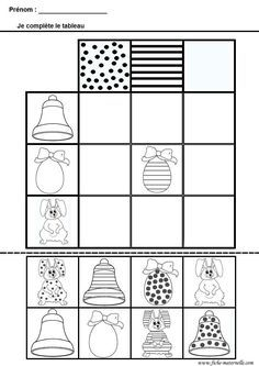Crafts,Actvities and Worksheets for Preschool,Toddler and Kindergarten.Free printables and activity pages for free.Lots of worksheets and coloring pages. Easter Worksheets, Easter Activities, Preschool Worksheets, Preschool Activities, Easter Printables, Preschool Graphs, Pattern Worksheet, Grande Section, Petite Section