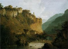 Convent of San-Cosimato and Part of the Claudian Aqueduct near Vicovaro in the Roman Campagna - Joseph Wright
