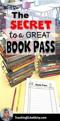 Hook your students on reading with a Book Pass! Tips, tricks, and 30 Middle School Titles perfect for your Book Pass.
