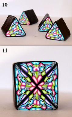 épinglé par ❃❀CM❁✿FREE TUTORIAL: polymer clay kaleidoscope cane.
