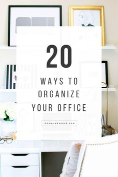 Organize your office, beautifully.