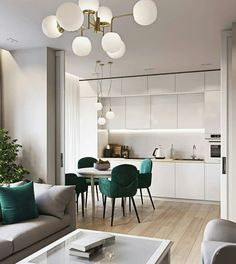 beautiful and affordable dining room decoration ideas 28 Open Plan Kitchen Living Room, Kitchen Room Design, Dining Room Design, Home Decor Kitchen, Interior Design Kitchen, Dining Area, Room Kitchen, Apartment Interior, Apartment Design