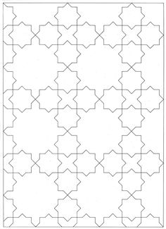 MAH 061 : The Design and Execution of Drawings in Iranian Tilework, Mahmood Maher al-Naqsh Islamic Art Pattern, Arabic Pattern, Pattern Art, Pattern Design, Geometric Patterns, Geometric Designs, Quilt Patterns, Zentangle Patterns, Geometric Drawing