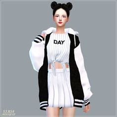 Sims 4 CC's - The Best: ACC_Loosefit Hood Jacket Long version by Marigold
