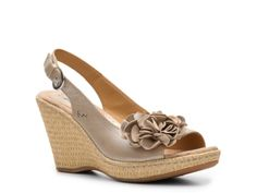 I like this shoe.  A little more tan than nude, but goes really well with my colors. also a little more pricey, but a comfy, quality shoemaker   $64.99 DSW b.o.c Poppy Wedge Sandal