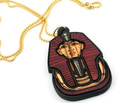 GoodWoodNYC - Pharaoh Deluxe Necklace Blood Zebra, $50.00 (http://www.goodwoodnyc.com/pharaoh-deluxe-necklace-blood-zebra/)