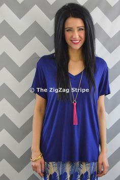 Navy Grace Oversized Tee – The ZigZag Stripe. Daily New Arrivals 20% from 6pm-midnight CST, plus use coupon code ZZS72 to save an additional 10% on every order! zigzagstripe.com