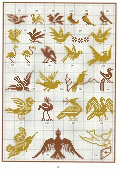 ru / Photo # 37 - 28 - Valentina-A Just Cross Stitch, Cross Stitch Animals, Cross Stitch Charts, Cross Stitch Designs, Cross Stitch Patterns, Crochet Pixel, Crochet Cross, Filet Crochet, Tapestry Crochet Patterns
