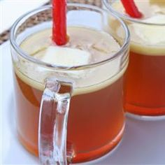 "Hot Buttered Rum Punch | ""This sweet punch is chock full of fall spicy taste.  An excellent hot drink for a Thermos® for tailgating as well."""