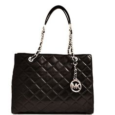Michael Kors Bags ($355) ❤ liked on Polyvore featuring bags, handbags, shoulder bags, nero, black leather handbags, black shoulder handbags, michael kors shoulder handbags, black handbags and black purse