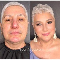 the most mind-blowing mature beauty transformations by goar avetisyan Makeup Tips, Beauty Makeup, Hair Makeup, Makeup Art, Power Of Makeup, Maskcara Beauty, Makeup Tutorials, Makeup Inspo, Makeup Inspiration