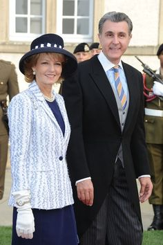 Princess Margarita of Romania and Prince Radu of Romania attend the wedding ceremony of Prince Guillaume Of Luxembourg and Princess Stephanie of Luxembourg at the Cathedral of our Lady of Luxembourg on October 2012 in Luxembourg, Luxembourg. Parma, Queen Mary, King Queen, Romanian Royal Family, Princess Stephanie, Casa Real, First Daughter, Royal House, Royal Weddings