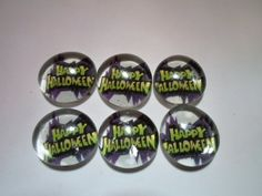 Glass Marble Magnets  Halloween / 75 by LisaChristines on Etsy, $5.00