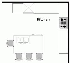 Kitchen Design Plans With Island great kitchen floor plan. | home :: kitchen & pantry | pinterest