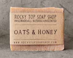 Oats & Honey Soap - All Natural Soap, Handmade Soap, Cold Process Soap, Unscented Soap - Svpply