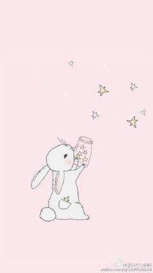 Kawaii *-* shared by かわいい女の子 on We Heart It Tatty Teddy, Dainty Doll, Falling Stars, Rabbit Art, Bunny Art, Cute Illustration, Nursery Art, Cute Art, Whimsical