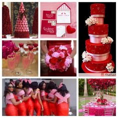 Red and pink wedding colors
