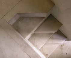carlo scarpa, stairs at the palazzo steri entrance, palermo 1973-1978 by seier+seier, via Flickr