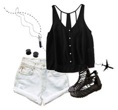 """""""Pointless."""" by sydannu0803 ❤ liked on Polyvore featuring Levi's, Aéropostale and Bullet"""