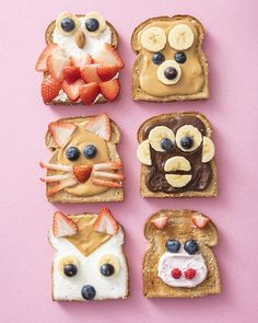 Making lunch fun and exciting is one of my biggest passions. This Animal Face Toast is way easier to create than it looks and my kids love them! Toddler Snacks, Fun Snacks For Kids, Kids Meals, Easy Family Meals, Food Art For Kids, Cooking With Kids, Cute Food, Good Food, Yummy Food