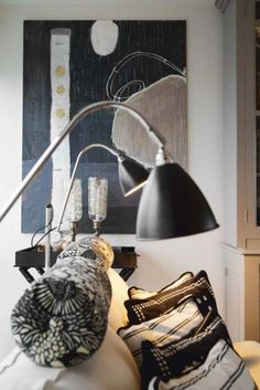 Home of Danish fashion designer Malene Birger. Contrasting textures in black, white and shades in between.