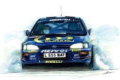 SUBARU IMPREZA 555 Subaru Rally, Rally Car, Honda S2000, Honda Civic, 3008 Peugeot, Peugeot 206, Subaru Impreza Gt, Subaru Motors, Gt Turbo