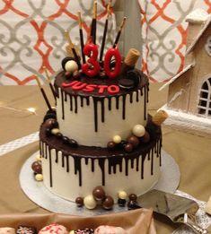 tarta de chocolate y chocolate blanco