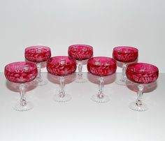 Traube Nachtmann Germany Crystal Champagne Glasses