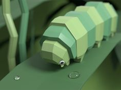 Low Poly Caterpillar