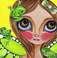 Frog Fairy Painting by Art by Jaz Higgins - Frog Fairy Fine Art Prints and Posters for Sale