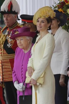 Letizia And Felipe Visiting Queen Elizabeth II 21