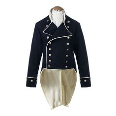 Naval, Admiral, Frock Coat, Napoleonic, Captain ❤ liked on Polyvore featuring steampunk, coats, jackets, men and uniform