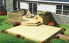 Two Tier Deck- Wanting to pull the sunroom off the back of the house and put up a big deck!