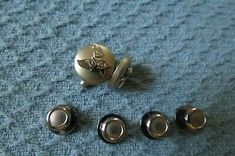 Genuine USAF Silver Tone Cuff Links and shirt studs Military Camouflage, Studs, Cufflinks, Stud Earrings, Detail, Silver, Shirts, Ebay, Fashion