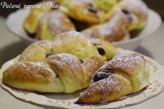 Nutelové ,,croissanty,, | NejRecept.cz Crinkles, Pretzel Bites, Doughnut, Nutella, French Toast, Sweets, Baking, Breakfast, Recipes