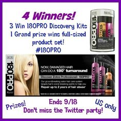 Blog post at Budget Earth :  Welcome to the 180Pro Hair Care Giveaway & Twitter Party Info! #180Pro Sponsored by: Zotos Professional Hosted by: Powered by Mom | M[..]