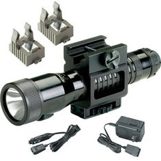 The Tactical Strion is the only rechargeable gun mounted light system on the market. Serrated tailcap and extended push button for easy one handed operation. Rail mount fits long guns with 1913 (Picatinny style) rails. Assembled in USA.