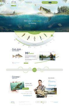 Unique Web Design on the Internet, Go Fishing #webdesign #websitedesign #website #design http://www.pinterest.com/aldenchong/