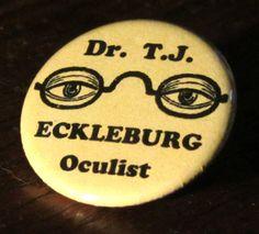 Dr. T.J. Eckleburg Great Gatsby   1.25 by BuyTheLightOfTheMoon, $1.50