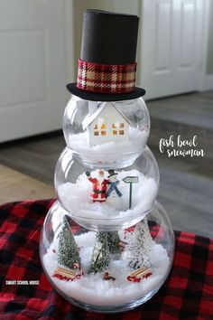 How to Turn Dollar Store Fishbowls Into the Cutest Christmas Decoration!