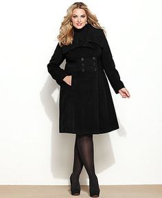 Plus size dress coats