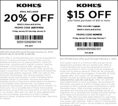 Pinned January 31st: 20% off at #Kohls, or online via promo code JUST4YOU #coupon via The #Coupons App