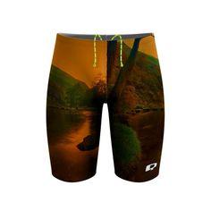 Harvest River Walk Jammer. The hush before winter. #qswimwear #swimsuit