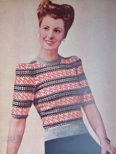 Vintage 1940s Sewing  Knitting