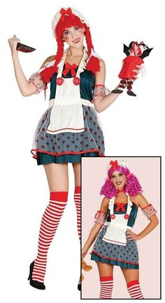 88b10722fcc6 Details about Naughty Ladies Halloween Broken Rag Doll Fancy Dress Costume  Zombie Ghost Outfit